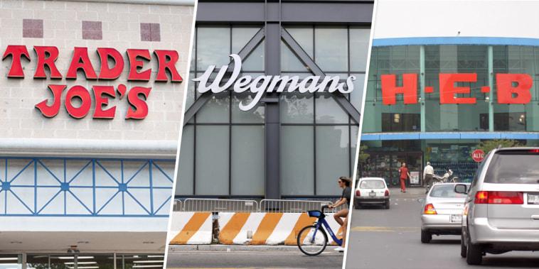 Image: Trader Joe's, Wegman's, H-E-B