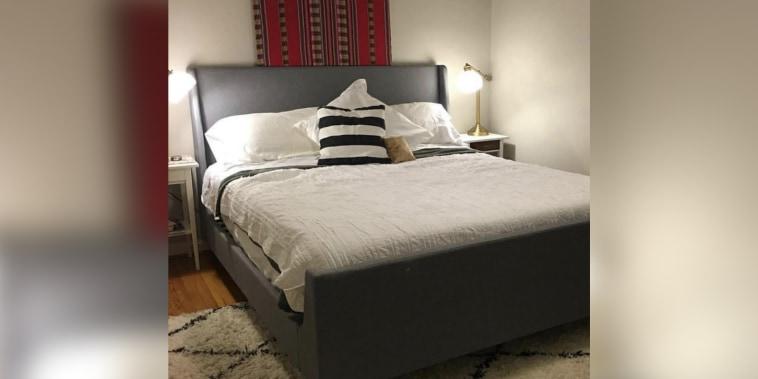 See a boring bedroom get a designer makeover for just $500