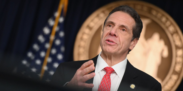 Image: New York Governor Andrew Cuomo speaks during a press conference to discuss the first positive case of novel coronavirus or COVID-19 in New York State