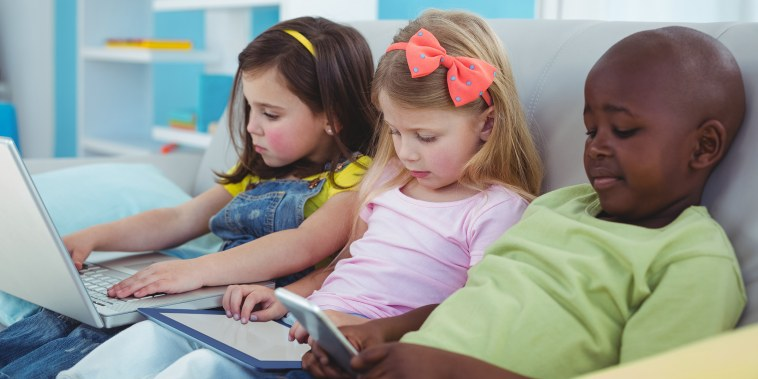 Kids on tech devices