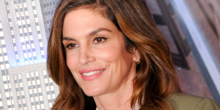Cindy Crawford visits the Empire State Building in New York, US