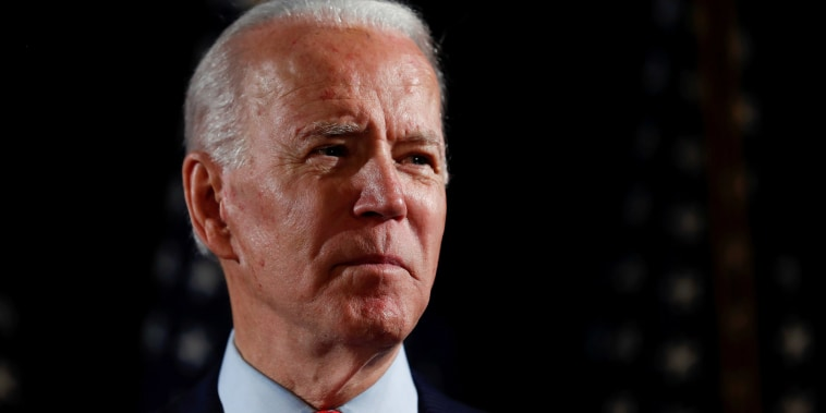 Image: Democratic U.S. presidential candidate and former Vice President Joe Biden speaks about responses to the COVID-19 coronavirus pandemic at an event in Wilmington
