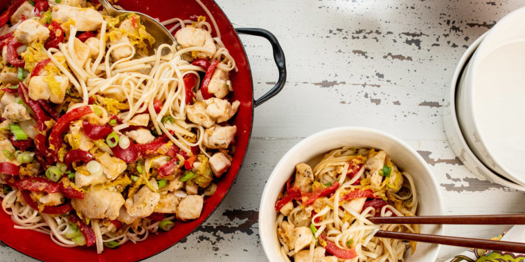 This flavorful, noodle stir fry is very quick to make, and very delicious.