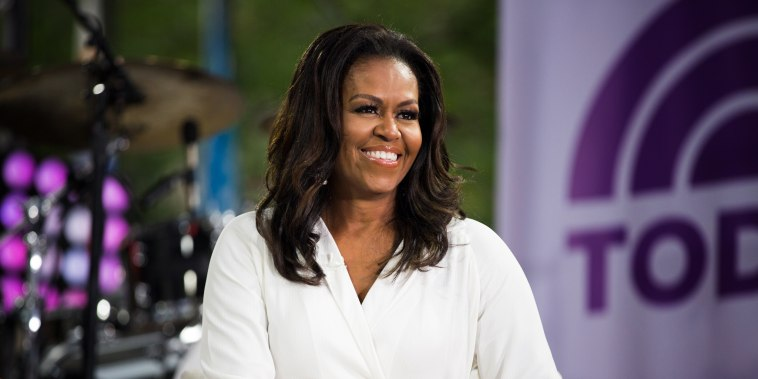 """Image: Michelle Obama appears on NBC's """"TODAY"""" show in New York on Oct. 11, 2018."""