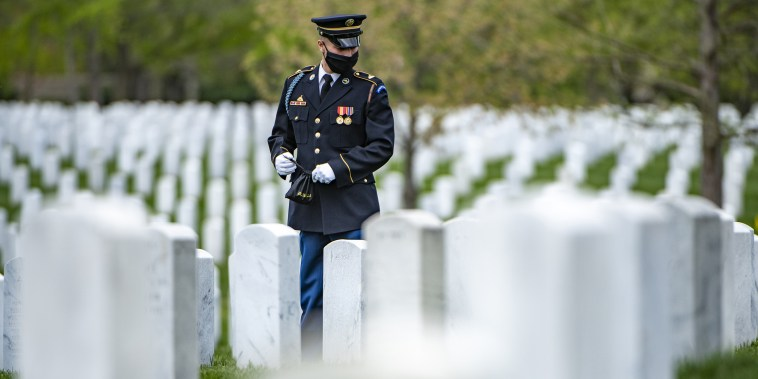 Modified Military Funeral Honors Are Conducted  In Arlington National Cemetery