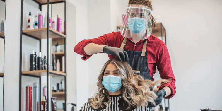Hair cutting during pandemic
