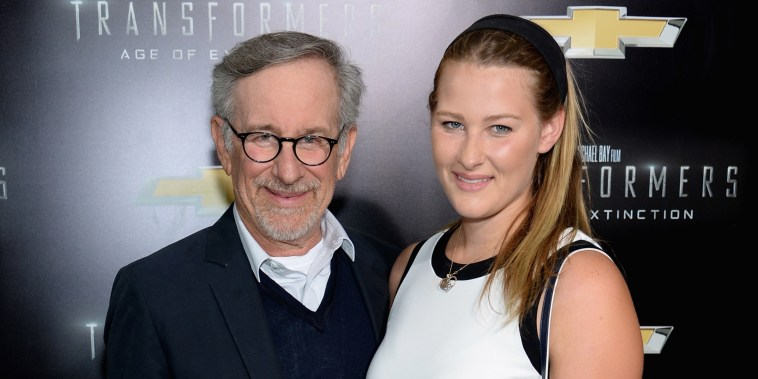 Steven Spielberg and his daughter Destry Allyn