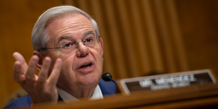 Sen. Bob Menendez speaks during a Senate Foreign Relations Committee hearing on Capitol Hill on Dec. 3, 2019.