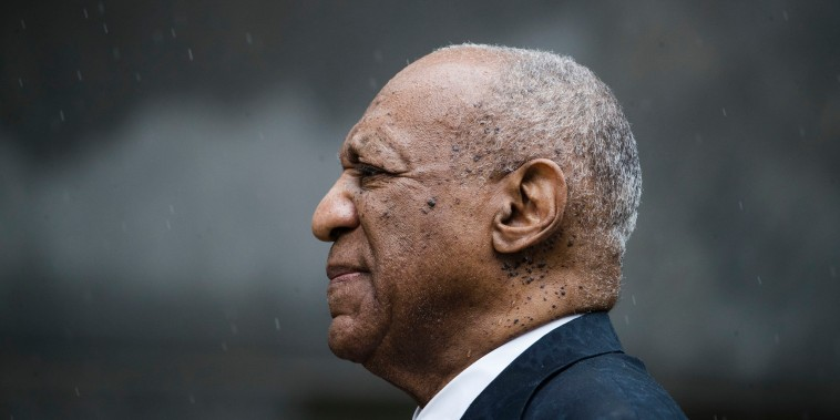 Image: Bill Cosby exits the Montgomery County Courthouse after a mistrial in his sexual assault case in Norristown, Pennsylvania, June 17, 2017. Cosby's trial ended without a verdict after jurors failed to reach a unanimous decision.
