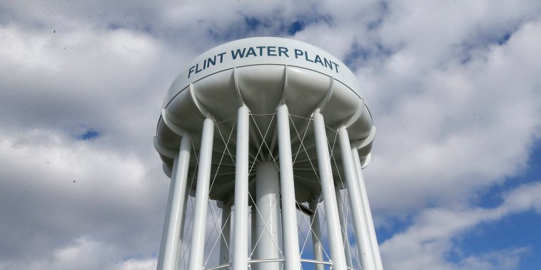 Image: The Flint Water Plant water tower in Michigan.
