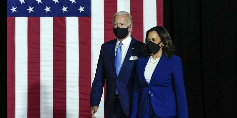 Image: Joe Biden and Running Mate Kamala Harris Deliver Remarks In Delaware