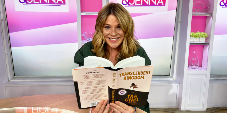 Jenna Bush Hager with September 2020 book club pick