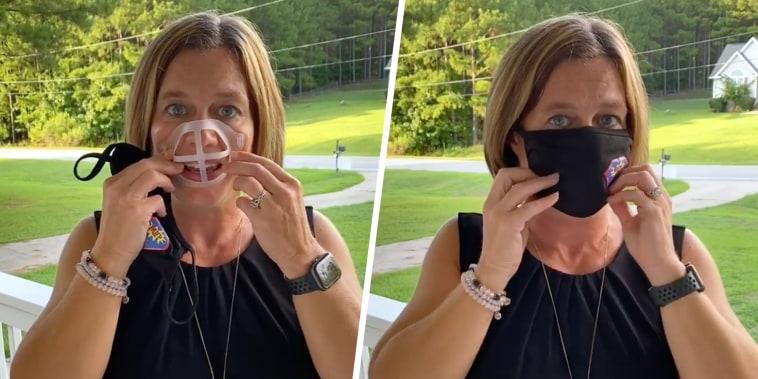 Angela Madden teacher face mask bracket hack