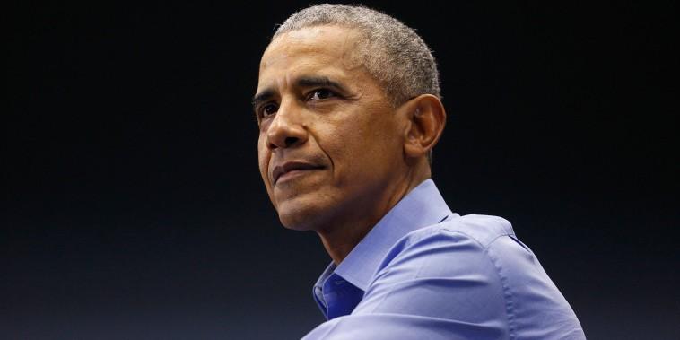 Former President Barack Obama Holds Campaign Rally For Indiana Senator Joe Donnelly