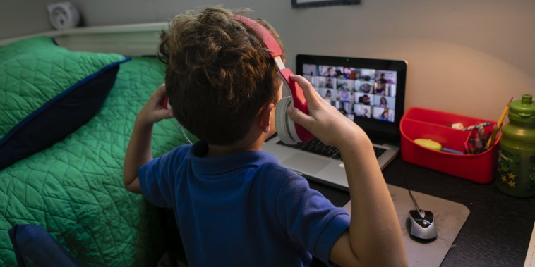Students Participate In Remote Learning Sessions As Florida Schools Stay Closed