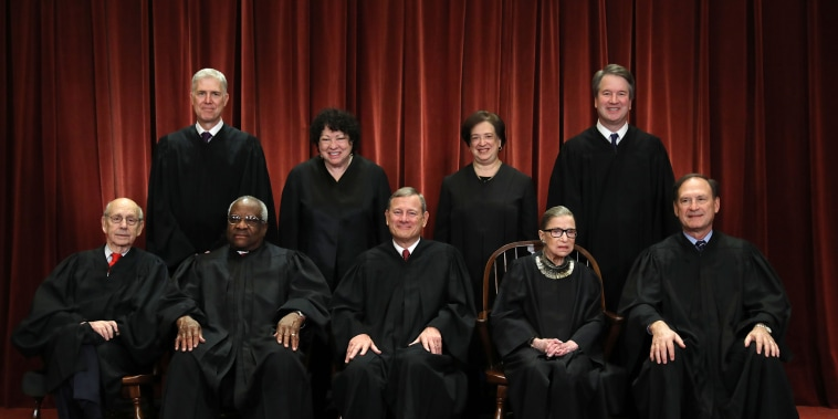 Image: U.S. Supreme Court Justices Pose For Official Group Portrait