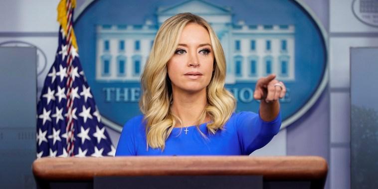 Image: White House Press Secretary McEnany speaks at the White House in Washington