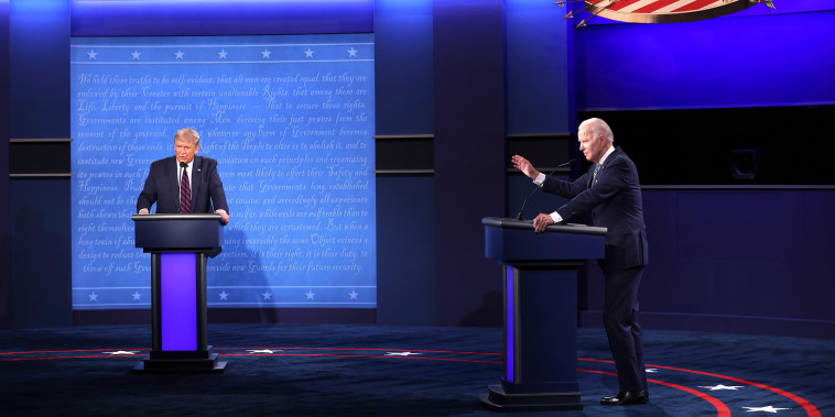 Image: Donald Trump And Joe Biden Participate In First Presidential Debate