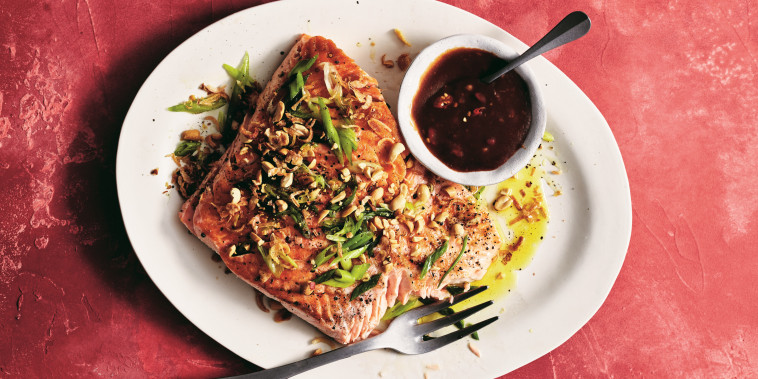 Grilled Salmon with Tamarind Dipping Sauce