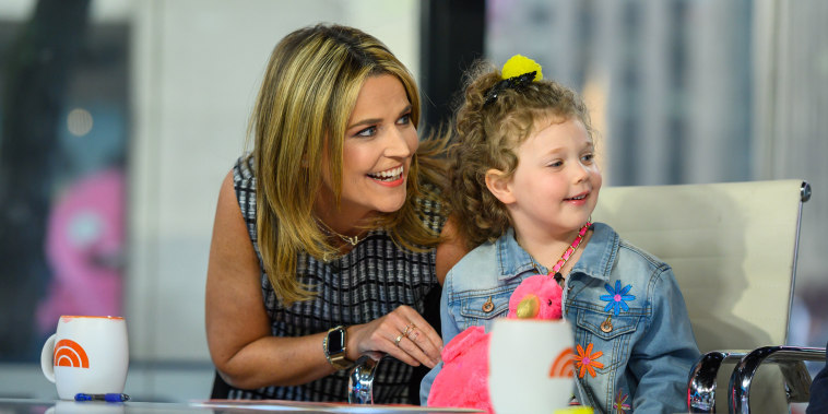 Savannah Guthrie and daughter Vale