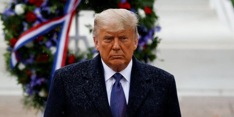 President Trump attends Veterans Day observance