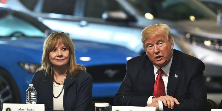 Image: Mary Barra Donald Trump
