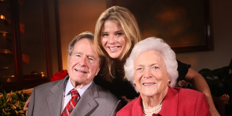 George H. W. Bush, Jenna Bush Hager, and Barbara Bush
