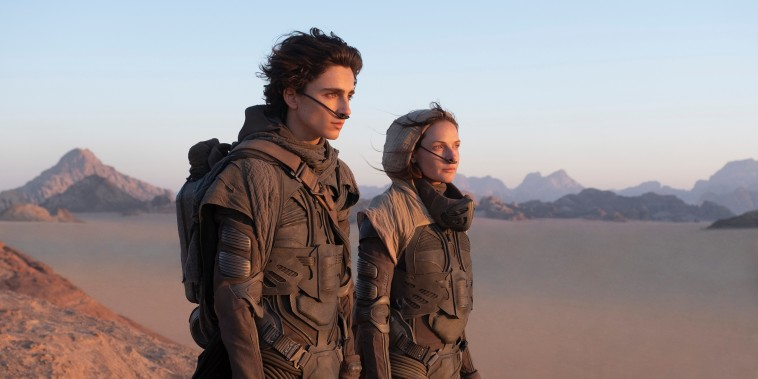 """Timothee Chalamet as Paul Atreides and Rebecca Ferguson as Lady Jessica Atreides in Warner Bros. Pictures and Legendary Pictures' action adventure """"Dune."""""""