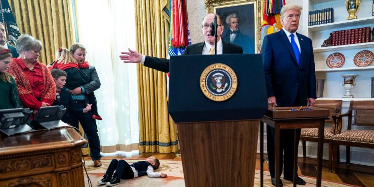 Image: BESTPIX- President Trump Awards Presidential Medal Of Freedom To Wrestler Dan Gable
