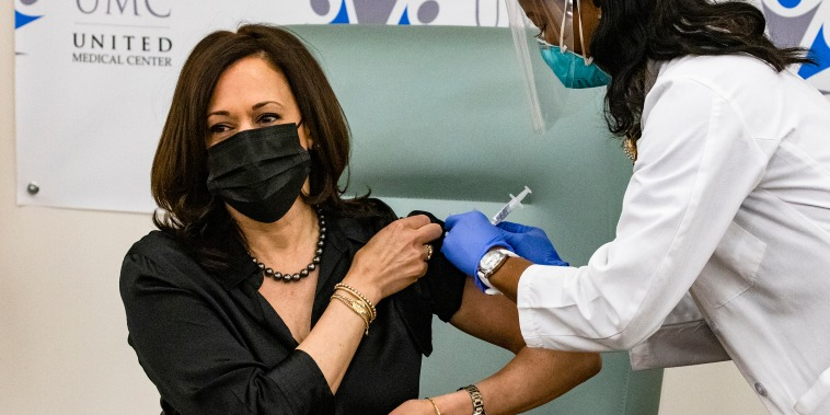 Vice President-Elect Harris Receives Covid-19 Vaccination