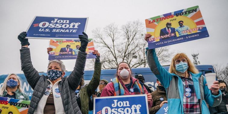 Image: Georgia Senate Candidate Jon Ossoff Holds Latino Meet And Greet Campaign Event