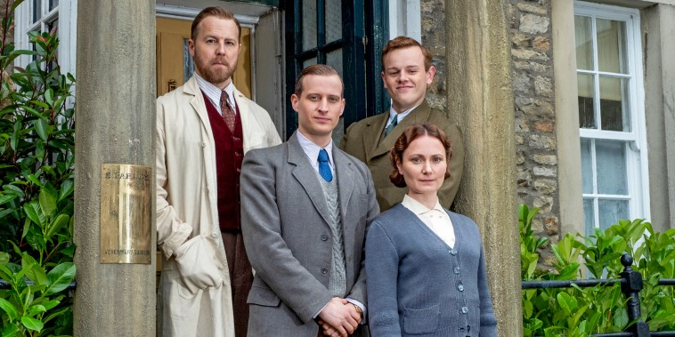 """Samuel West, Nicholas Ralph, Callum Woodhouse, and Anna Madeley star in PBS' """"All Creatures Great and Small."""""""