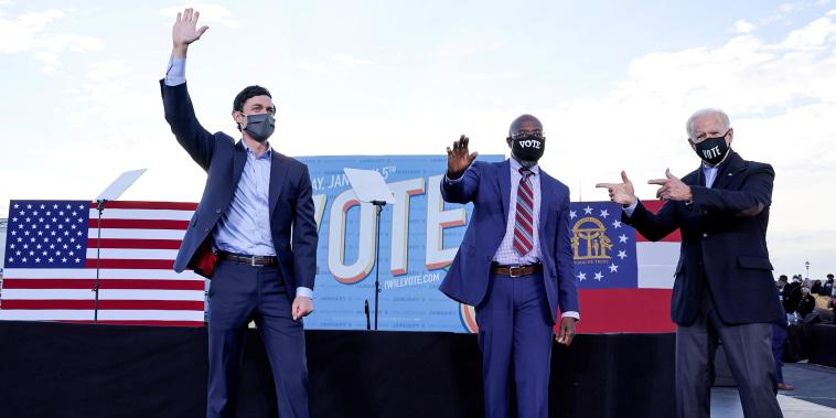 Image: FILE PHOTO: U.S. President-elect Joe Biden campaigns for Democratic U.S. Senate candidates Ossoff and Warnock in Atlanta, Georgia