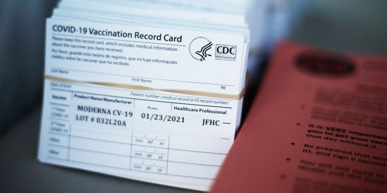 The Better Business Bureau is warning of the dangers of posting pictures of your COVID-19 vaccination card online -- and it's not just about sharing personal data.