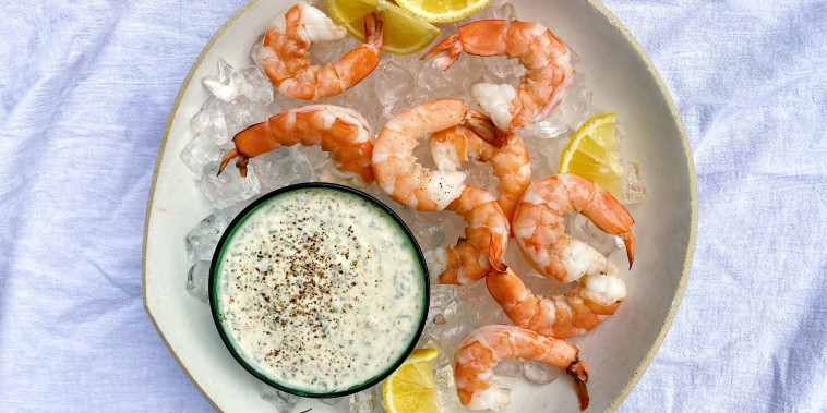 Shrimp Cocktail with Dilly Horseradish Cream