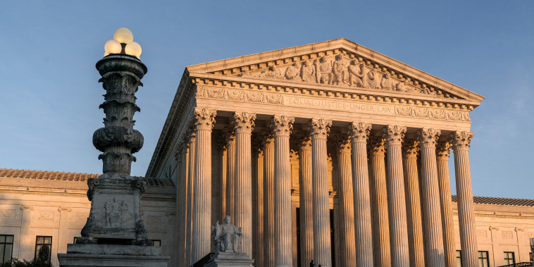 The Supreme Court at sundown in Washington on Nov. 6, 2020.