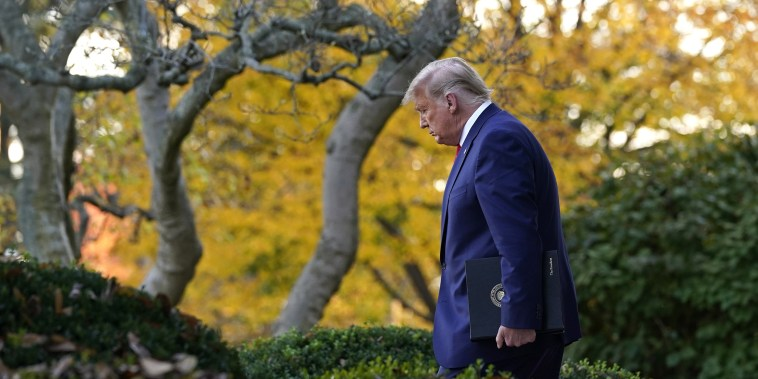 Image: President Donald Trump arrives to speak in the Rose Garden of the White House.