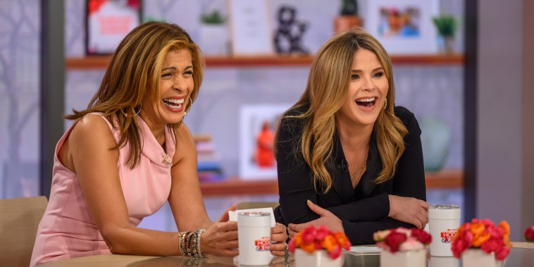 Hoda Kotb and Jenna Bush Hager laugh on the set of TODAY