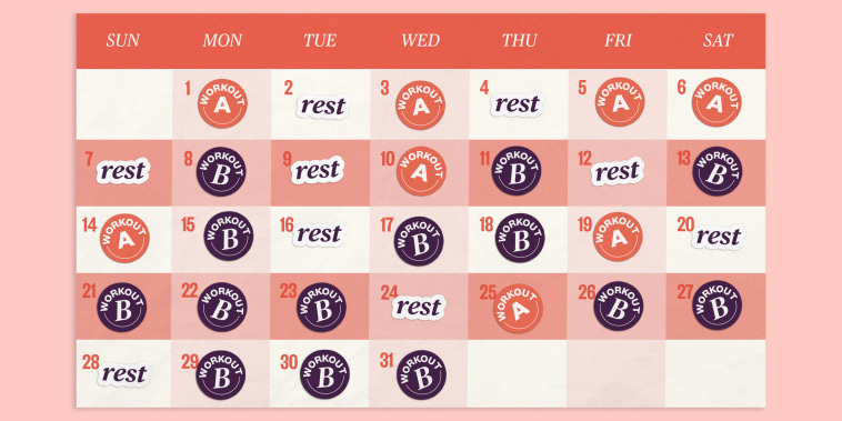 Illustration of a calendar with stickers on different dates