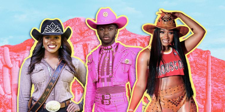Collage of Ja'Dayia Kursh, Lil' Nas X, and Megan Thee Stallion