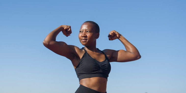 Black woman in fitness