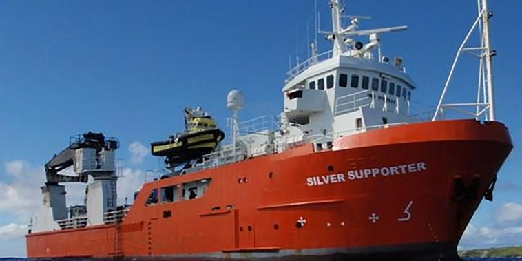 Image: The Silver Supporter cargo vessel from which a 52 year-old Lithuanian sailor fell off and was then rescued after 16 hours in the water off the Australs archipelago in the Pacific Ocean.