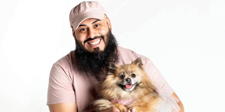 Amador and his dog, Bella.