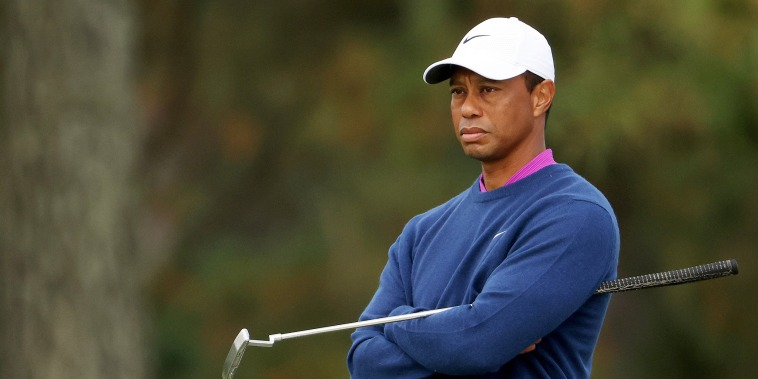 Image: Tiger Woods, The Masters - Round Two