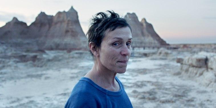 """Image: Frances McDormand in the film \""""Nomadland\"""""""