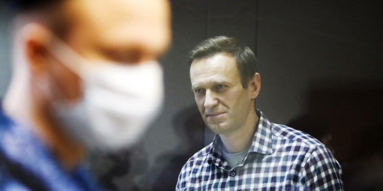 Image: Russian opposition politician Alexei Navalny attends a hearing hearing to consider an appeal against an earlier court decision to change his suspended sentence to a real prison term