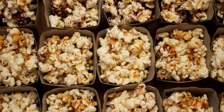 Frame full of popcorn