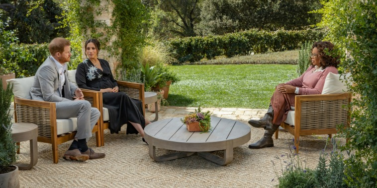Image: FILE PHOTO: Meghan and Harry give interview to Oprah Winfrey