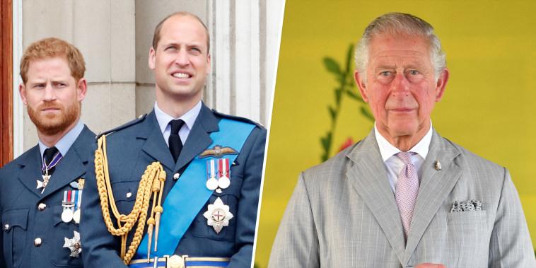 Prince Harry, William, Charles