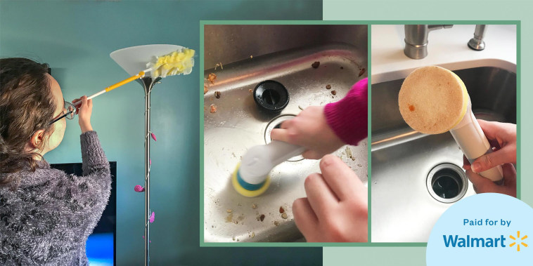 Chrissy Callahan shares her before and after using a scrubber from Walmart Plus